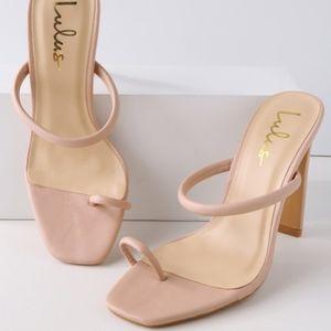 """Lulu's """"Mimi"""" Nude Heels"""